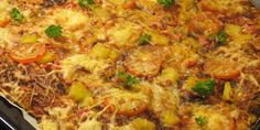 Pannupizza Americana Calzone, Paella, Fried Rice, Macaroni And Cheese, Fries, Curry, Good Food, Pizza, Meat