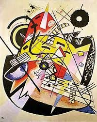 "Esta obra se llama "" The white dot"" hecha en 1923 por Vasily Kandinsky un pintor ruso nacido en Moscú. él se dedicaba a pintar cuadros del estilo expresionismo y sobre todo abstractos.   Tamaño de la obra: 59 x 74 cm."