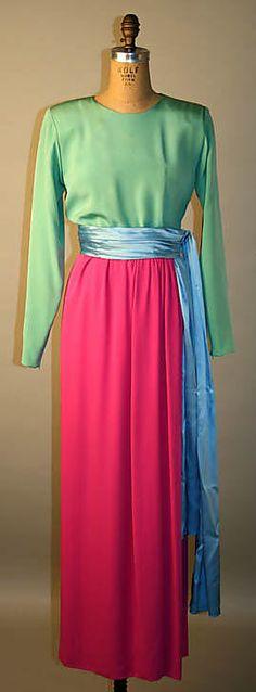 1989 Yves Saint Laurent Evening dress Metropolitan Museum of Art, NY