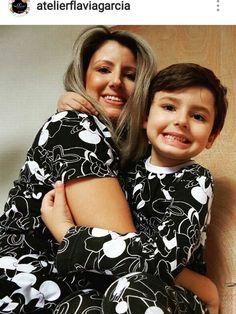 Pijama tal mãe tal filho.