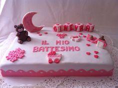 #torta #battesimo #bimba #rosa #cake #christening #pink #baby #cakedesign #chiryscakes #orsetto #lunarosa #babyshower