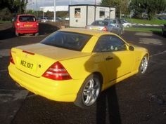 Aug 1999 Mercedes SLK-Class 230 KOMPRESSOR  - We're not sure whether this is a good thing or a bad thing! But if you love yellow cars, we had to share it :-)
