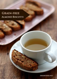 Crunchy, tasty and so easy to make, this grain-free almond biscotti will definitely become a favorite tea-time snack to make and to eat. Gluten Free Sweets, Gluten Free Baking, Dairy Free Recipes, Primal Recipes, Snacks To Make, Tea Time Snacks, Healthy Holiday Recipes, Real Food Recipes, Quick And Easy Sweet Treats