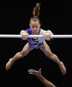 Madison Kocian competes during the 2010 Visa Gymnastics Championships at the XL Center in Hartford, Conn., on Saturday, August 14, 2010.    Video slideshow here: youtu.be/CwzhDvXb6N0 gymnastics, women's gymnastics WAG, gymnast, junior elite star #KyFun