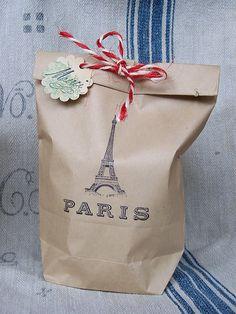 Paris paper bag