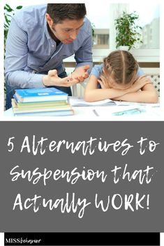 5 alternative solutions to suspension that actually work! A blog post by Allie at Miss Behavior