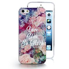"""Aroncent New Fashion """"Love You So Much"""" Printed Shape Hard Plastic Back Protector Snap on Case for iPhone 5S With Free HD Screen Protector Film Aroncent http://www.amazon.com/dp/B00ODMXPIA/ref=cm_sw_r_pi_dp_pt5oub04TAFME"""