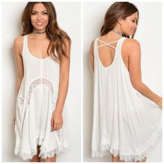 I just discovered this while shopping on Poshmark: white lace boho dress/tunic   Boutique. Check it out!  Size: Various