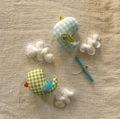 Gingham birdies and clouds - mobile | Flickr - Photo Sharing!