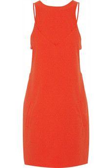 T by Alexander Wang Layered stretch-crepe mini dress | NET-A-PORTER