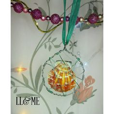 Wire caged seashell necklace boho gypsy bohemian by LouLeeAndMe