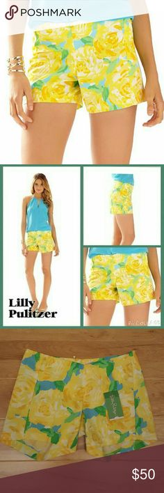 Lilly Pulitzer Deenie Short Lilly Pulitzer Sunglow yellow first impression Get ready for Deenie! Now you can dress up your printed shorts for any occasion. Wear the Deenie if you love your Callahans. These are the elevated version for date night or a fancy lunch. Fashion Short With Clean Front And Center Back Zipper. Vintage Dobby - Printed (100% Cotton). Size:000 Lilly Pulitzer Shorts