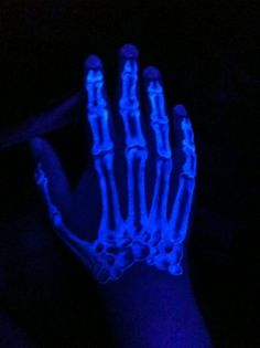 Really cool blacklight tattoo