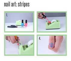 DIY striped nails: click through for full directions! #DIY #nail #art #nautical