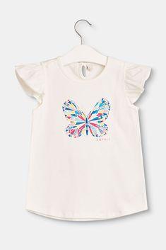 Cet adorable t-shirt stretch attire tous les regards avec son grand motif  papillon coloré 934b8cdf9a58