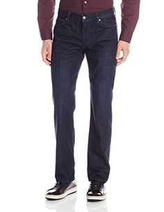 7 For All Mankind Mens Standard Classic Straight Leg, Blue Surfer, 33
