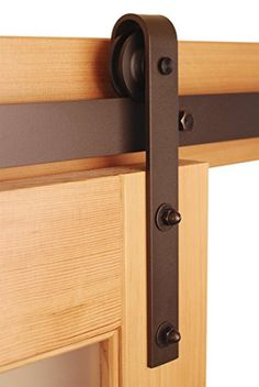 """Real Sliding Hardware 4 FT (48"""") Classic Barn Door Kit Bronze Rustic Finish Hang One 24"""" or smaller door Real Sliding Hardware http://www.amazon.com/dp/B00P6OY7GS/ref=cm_sw_r_pi_dp_hhFVub07447WN"""