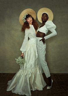 Unique Dresses, Dresses Uk, Bridal Dresses, Bridal Hat, Bridal Style, Custom Wedding Dress, Designer Wedding Dresses, Bridal Separates, Black Bride