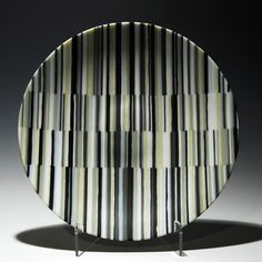 The fused glass Static Bowl by Robert Woldow.