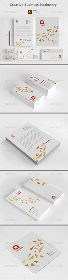Buy Creative Business Stationery by azadcsstune on GraphicRiver. File Includes Letterhead and Letter size Business Card Envelope Presentation Folder Editable Illustrator files (ai. Corporate Stationary, Stationary Design, Corporate Identity, Stationery Printing, Presentation Folder, Card Envelopes, Letterhead, Print Templates, Creative Business