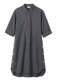 Women's TONAL CHECK TUNIC SHIRT