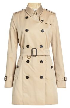 BURBERRY Short Cotton Trench Coat. #burberry #cloth #