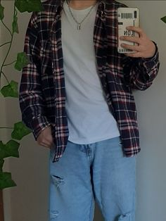 Retro Outfits, Mode Outfits, Streetwear Men, Cute Couple Pictures, Flannel Shirt, Grunge, Indie, Street Wear, Minimalist