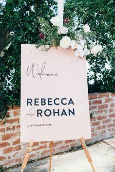 Blush and black acrylic signage by Sunshine + Confetti Wedding Confetti, Wedding Signage, Event Styling, Business Ideas, The Hamptons, Wedding Styles, Wedding Planner, Wedding Decorations, Sunshine