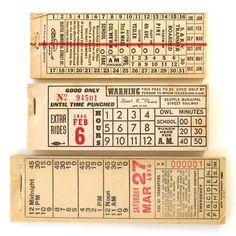 Vintage Transit Tickets.