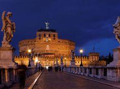 Photo: Twilight Ponte Sant' Angelo, Rome
