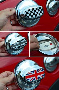 Car Keyring Trim Ring Rim for BMW MINI Roadster Cooper Clubman S KEY B Red B7 VQ