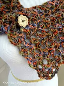 The Flower Patch Button Wrap is a lacy, airy, and versatile piece that can be worn in lots of different ways.  Wear it as a wrap, a shawl...