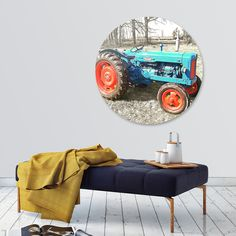 Discover «Fordson Tractor in Winter Field», Exclusive Edition Disk Print by Elaine Plesser - From $85 - Curioos