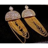 Designer Real Look Big Gold Plated Jhumkaas