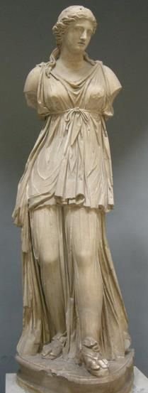 statue of Selene - Roman copy of Hellenistic figure, at the Vatican museum
