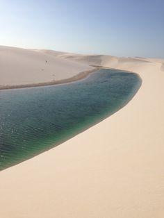 Deserto com muita agua