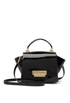 93a77aaaef Geanta Dama ZAC Zac Posen Eartha Top Handle Patent Leather Crossbody Bag  BLACK  euforiamall