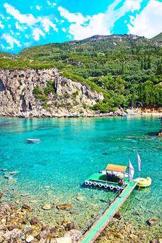 Sea Bay - Paleokastritsa, Corfu island, Greece - photo: Dragomir Nikolov