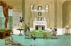 A schoolroom in a private home circa 1820