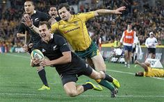 Try time: Israel Dagg dives over the line for a five-pointer