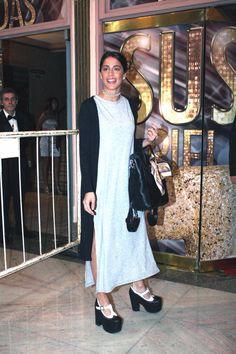 Martina Stoessel fue anoche a ver Piel de Judas, la obra que protagoniza Susana Gimenez en el Lola Membrives