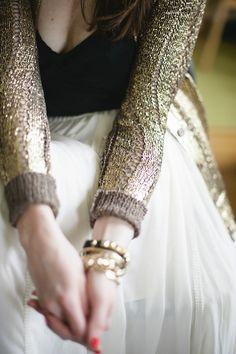 #GoldSweater
