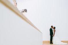 #choosinglove  I love the idea in using a museum...;-) A Modern and Elegant Art Museum Wedding in Austin, Texas - Munaluchi Bridal Magazine.