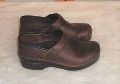 Dansko Sz 36 EU 5.5-6 US Brown Oiled Leather Occupational Dance Nursing Clogs #Dansko #Clogs