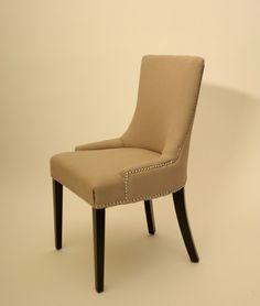 Charlotte Fabric Linen Cotton Blend Chair - Harrington Galleries