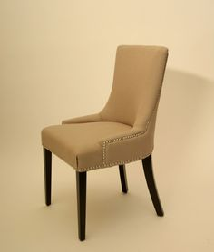 Charlotte Fabric Linen Cotton Blend Chair - Harrington Galleries