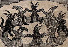 """Francesco Maria Guazzo - Witches' Sabbat, """"Malleus Maleficarum"""" (Hammer of the Witches), Medieval Witch, Sabbat, Witches Dance, Witch History, Witch Drawing, Maleficarum, Traditional Witchcraft, Dark Sense Of Humor, Witch Tattoo"""