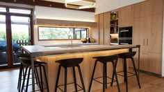 Remuera Home on ArchiPro Beautiful Homes, 1970s, Kitchen Design, Kitchens, Modern, Table, Furniture, Home Decor, House Of Beauty