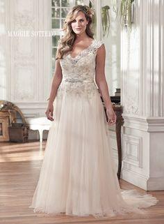 flattering wedding dresses - Carmen by Maggie Sottero