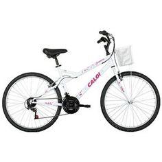 Bicicleta Caloi Ventura - Aro 26 - Freio V-Brake - Câmbio Traseiro Caloi - 21 Marchas - Feminina